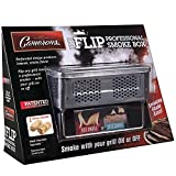 BBQ Smoker Box for Hot & Cold Smoke - 'The Flip' Patented Barbecue Smoke Box w Fire Starters - Infuse Smoke Flavor with Your Grill On or Off