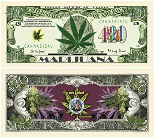 Medical Marijuana 420 Bill With Bill Protector ... by American Art Classics