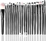 XZM 20Pcs Make Up Brush Set, Kit de Pinceles cosméticos de Pincel de Mezcla para Labios de Ojos