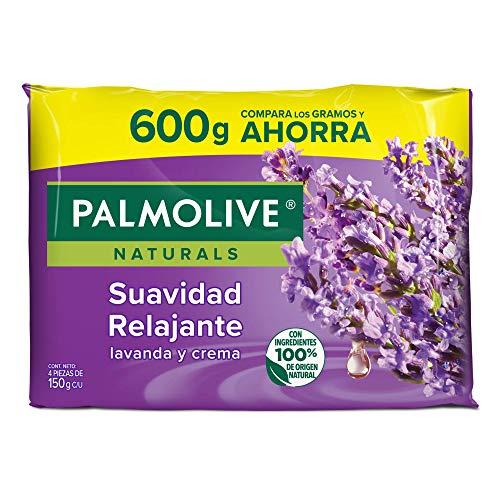 Palmolive Neutro Balance Palmolive Naturals Lavanda Y Crema Jabón De Barra, 4 X 150 G, color Lavanda, 4 count, pack of/paquete de