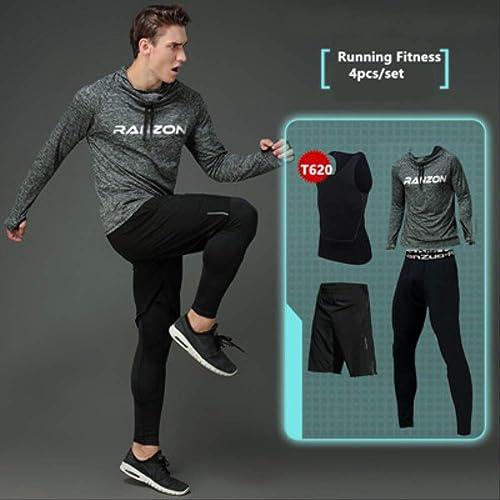 WSDYXY 2017 Nouveaux Costumes à Séchage Rapide pour Hommes Jogging FonctionneHommest Sets VêteHommests Compression Sports Training Gym Fitness Sportswear FonctionneHommest Set L 10