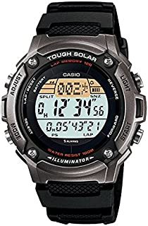 Casio – W-S200H-1 A – Watch Men – Automatic – Digital – Black Resin Strap, Black Band