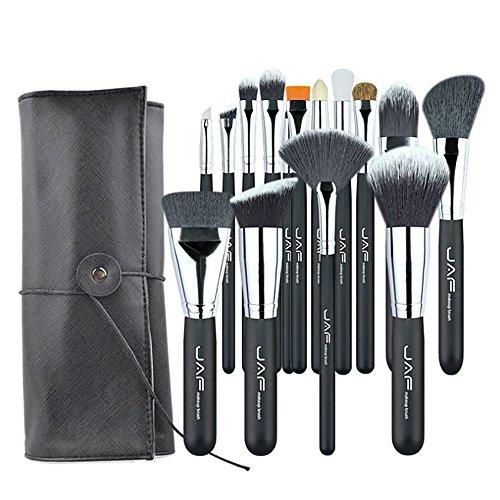 Pinceaux de maquillage 15 PCS/SET brosses de maquillage professionnel avec étui en cuir réglable support portable adapté for voyager Super J1531YC-B Brosses et outils de maquillage des yeux