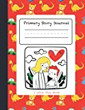 Primary Story Journal: All about Mom and Me, Early Creative Story Book, I love you Mom, Write and Draw Journal for Kids, 100 pages ( 8.5 x 11 inch ), Red, Grade K-2