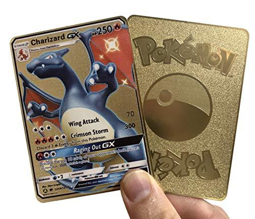 Charizard GX Hidden Fates Custom Gold Metal Pokemon Card - TCG CCG