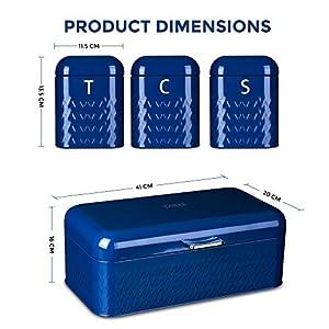 Livivo Taurus 4pc Kitchen Storage Set - Navy Blue