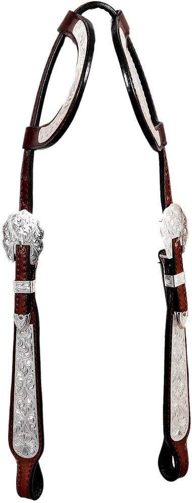 HILASON Western Max 55% Fees free!! OFF Horse Two Ear Leather Headstall American Brown