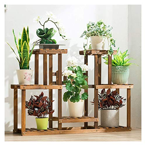 Flower Racks Modern Simple Flower Stand Solid Wood Multilayer Flower Pot Stand Can Display A Variety Of Plants Wooden Flower Stand Plant Stand dongdong