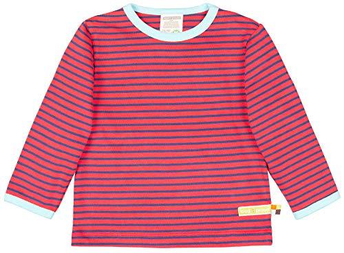 loud + proud Unisex Baby Shirt Ringel, aus Bio Baumwolle, GOTS zertiziziert, Rot (Cayenne Cay), 68 (Herstellergröße: 62/68)