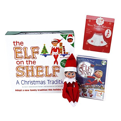"""Elf on the Shelf: Blue Eyed Girl Elf with Bonus """"An Elf Story"""" DVD and Out of Print Snowflake Skirt by The Elf on the Shelf"""