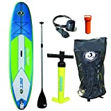 California Board Company 11′ Nautic Inflatable Stand up Paddle Board with Pump, Paddle
