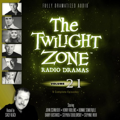 The Twilight Zone Radio Dramas, Volume 21                   By:                                                                                                                                 Rod Serling,                                                                                        Richard Matheson,                                                                                        Earl Hamner Jr.                               Narrated by:                                                                                                                                 full cast                      Length: 4 hrs and 4 mins     Not rated yet     Overall 0.0