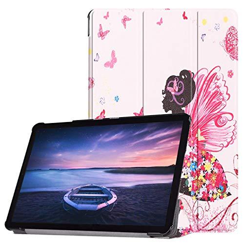Lobwerk Schutzhülle für Samsung Galaxy Tab S4 SM-T830 SM-T835 SM-T837 10.5 Zoll Hülle Flip Hülle mit Auto Sleep/Wake
