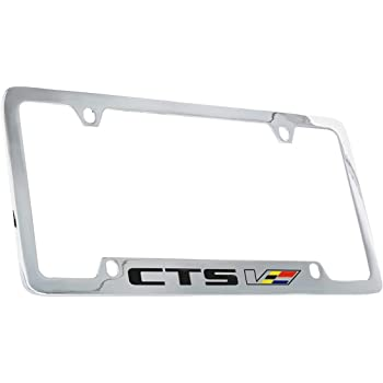 Cadillac CTS Chrome Plated Metal License Plate Frame Holder