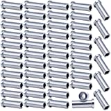 Muzata 50Pack Stainless Steel Protector Sleeves Protective Cable Railing Kit Hardware Grommet for 1/8