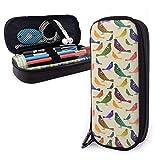 Astuccio per penne, astuccio per studenti di grande capacità, portadocumenti, portamatite, astuccio portamatite portatile; pappagallini arcobaleno