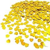 JZK 5000 pcs 1cm plástico especular corazón Amor Dorado Confeti Boda Mesa Comedor Confeti dispersar Decoraciones Mesa para Boda cumpleaños día San valentín Fiesta Bienvenida bebé gallina Fiesta