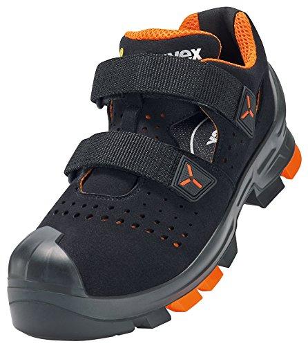 Uvex 2 Arbeitsschuhe - Sicherheitssandalen S1 P SRC ESD - Orange-Schwarz, Größe:44