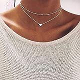 Jovono Fashion Multi - Layer - Halskette con girocollo Liebhaber für Frauen und Mädchen