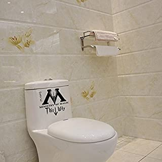 Aiwall T-015 Ministries of Magic Toilet Vinyl Decal This Way Arrow Design