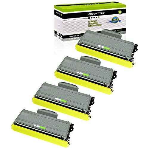 GREENCYCLE 2600 Pages per Toner Cartridge Replacement Compatible for Brother TN360 TN-360 TN330 TN-330 Used in HL-2170W HL-2150N DCP-7045N DCP-7040 MFC-7840W MFC-7340 MFC-7345N (Black, 4-Pack)