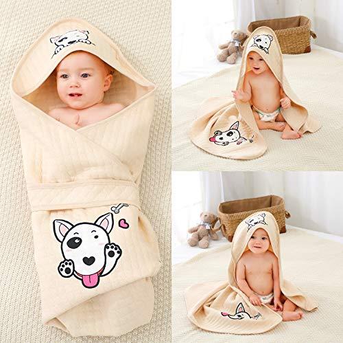 Alcea Rosea Unisex-Baby Neugeborene pucktuch 100% Bio-Baumwolle Schlafsack Decke Corgi Print Pucksack für Baby(Bullterrier)