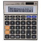 Handheld Calculator, Standard Function Electronics Calculator 14-Digit Large Screen Calculator Battery Solar Dual Power Office Desktop Financial Calculator