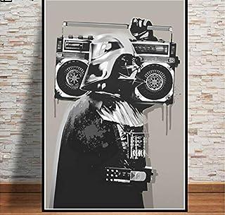 Star Wars Movie Darth Vader Poster Wall Art Canvas Painting Posters and Prints Wall Picture Room Decoración Decorativa para El Hogar 50 × 70Cm Sin Marco