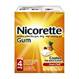 Nicorette Gum Nicotine Fruit Chill Stop Smoking Aid, 4 mg, 160 Count