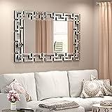 KOHROS Decorative Wall Mirror - Grecian Venetian Design Large Rectangle Wall Mirror 27.5 W x39.5 H Inches