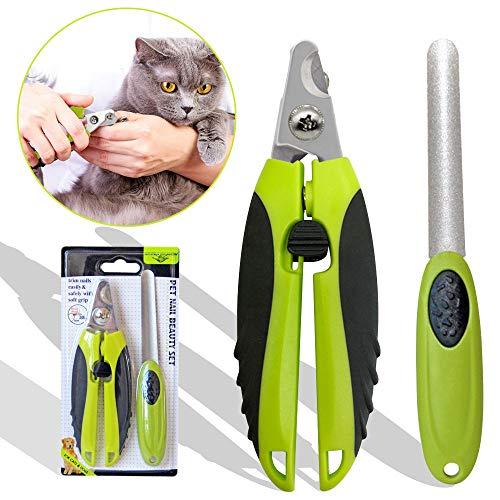 Onebarleycorn - Tagliaunghie Professionale per Gatti e Cani, Super Facile e Sicuro, per Media e Piccoli Cane Gatto Conigli uccel