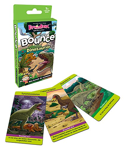 Preisvergleich Produktbild BRAIN BOX 94989 BrainBox Bounce - Dinosaurier (D) Quartett-Spiel