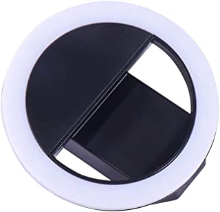 JYEMDV LED Floor Ring Light Set with Selfie Stick and Tripod Phone Holder Fill Light Webcast Beauty Light//USB Charging Color : F