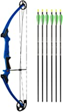 Genesis Bows Original Youth Bow with Six Arrows Bundle (Choose Your Color), NASP Official Compound Bow of The National Archery in The Schools Program   Great for Beginners