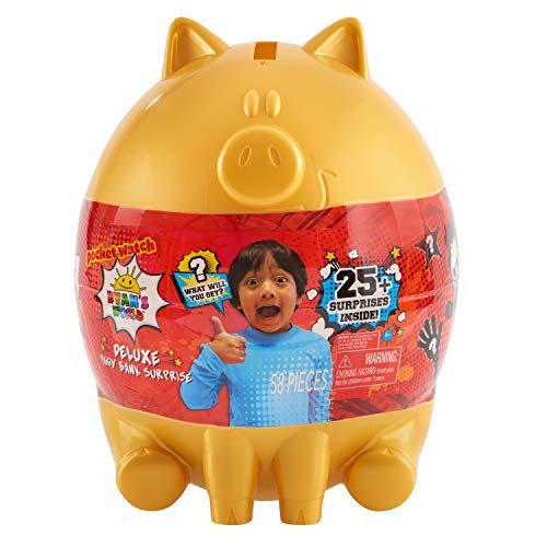 RYAN'S WORLD Deluxe Piggy Bank, Multi-Color, Piggy Bank