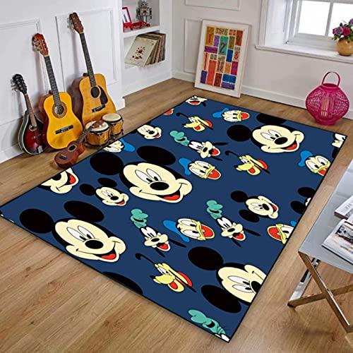 Alfombra De Área De Alfombra Alfombras De Piso Impresas Cute Cartoon Mickey Mouse Alfombra De Piso Suave Antideslizante Alfombras De Decoración del Hogar (A669) 80X150Cm