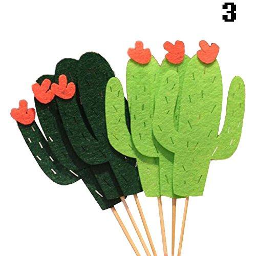 BENHAI 1 Set Mignon Festival Accessoires Fruit Party Gâteau Inséré Drapeau Diy Cactus Toothpick Thème Décoration Cupcake Party décorations (3)