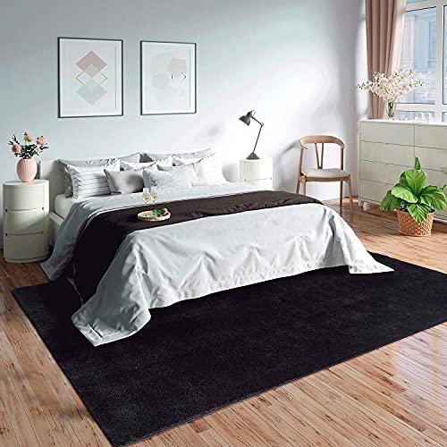"""Mia´s Teppiche \""""Olivia\"""" Wohnzimmer Teppich, Kurzflor, 80x150 cm, Schwarz"""