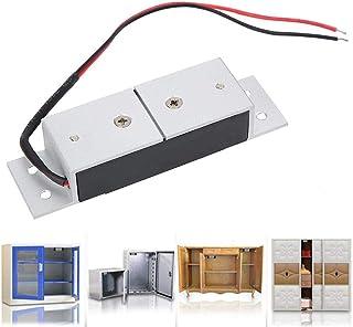 Rosvola Cerraduras magnéticas eléctricas, DC12V 60KG Mini Cerradura de cajones de gabinete de Puerta electromagnética para cajón de gabinete de Puerta