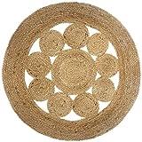 alfombra redonda yute 80