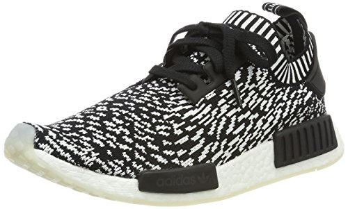 Adidas Herren NMD R1 Primeknit Sneaker, Schwarz (Negbas / Negbas / Ftwbla), 42 2/3EU