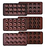 Ecoki Schokoladenform 3er Set aus Silikon, LFGB Zertifiziert BPA-frei Silikon Bonbons, Pralinenformen - MEHRWEG