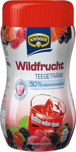 Krüger Teegetränk Wildfrucht,8 Liter, 12er Pack (12 x 400 g Dose)