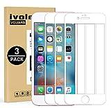ivoler 3 Unidades Protector de Pantalla para iPhone 6s / iPhone 6, [Cobertura Completa] Cristal Vidrio Templado Premium, [Dureza 9H] [Anti-Arañazos] [Sin Burbujas] - Blanco