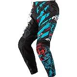 O'Neal | Pantalones de Motocicleta | Enduro Motocross | Ajuste para una máxima Libertad de Movimiento, Transpirable y Duradero | Pantalones Elemento Ride | Juventud | Negro Azul | Talla 28