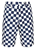 Men's Golf Shorts Stretch Tech Light Relaxed Fit Quick Dry Checkered Performance Plaid Size 36 Plaid