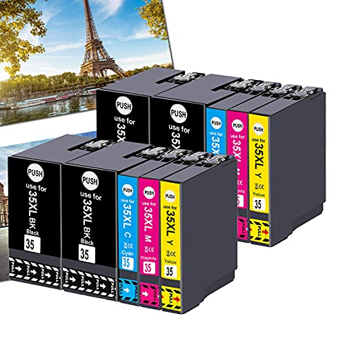 OGOUGUAN 35XL - Cartuchos de tinta compatibles con Epson Workforce Pro wf-4720dwf wf-4730dwf wf-4740dwf wf-4725dwf (4 negro, 2 cian, 2 magenta, 2 amarillo)