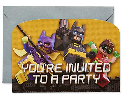 amscan Lego Batman Film Party Einladungen 8Stück