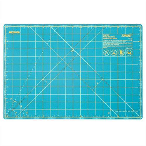 Olfa 1132644 - Esterilla giratoria de doble cara, 30,5 x 45,7 cm, color azul