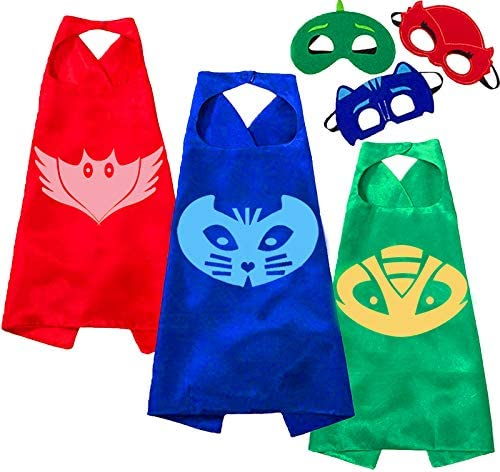 NuGeriAZ Hallowen Costumes Capes and Masks for Kids Compatible Superhero cape and Dress up Kids product image